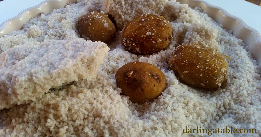 pomme de terres en croute de sel